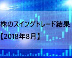 株のスイングトレード結果【2018年8月】