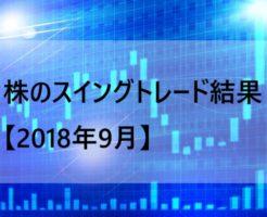 株のスイングトレード結果【2018年9月】