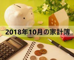 家計簿公開!アラフォー独女一人暮らしのお金【2018年10月】