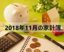 家計簿公開!アラフォー独女一人暮らしのお金【2018年11月】
